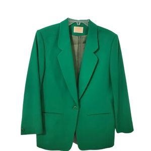 Vintage Pendleton Wool Blazer - Emerald Green
